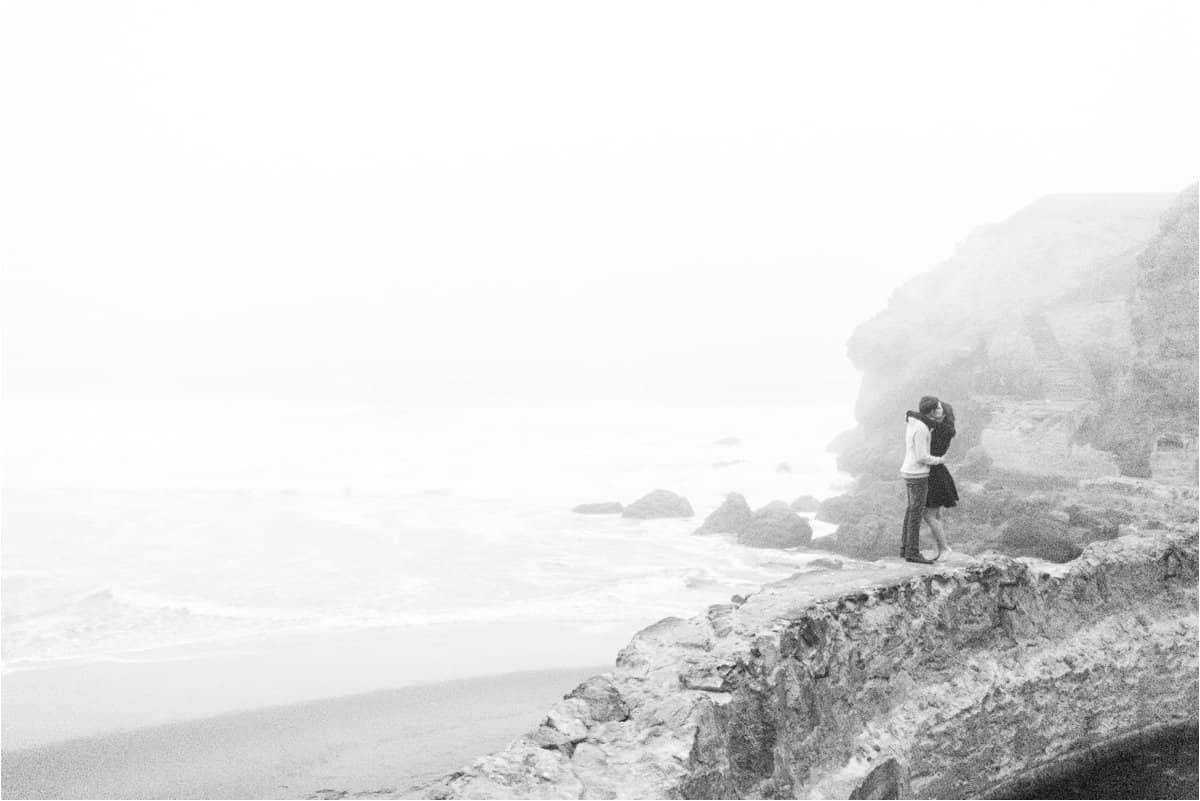 sutro baths and union square san francisco engagement photos