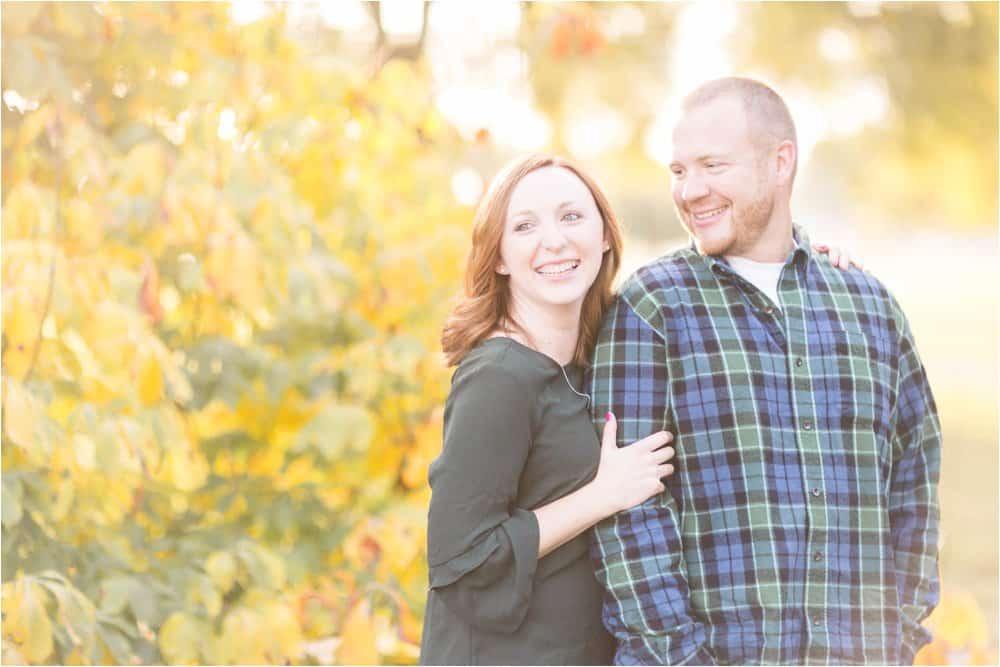 virginia fall engagement photos