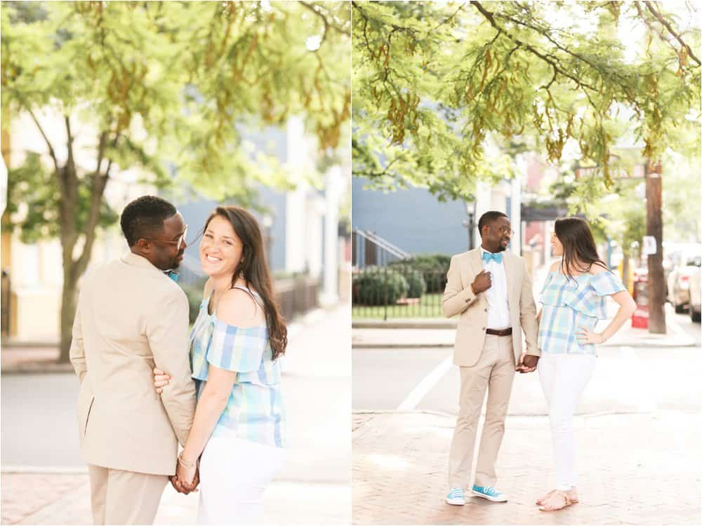colorful downtown richmond virginia engagement photos