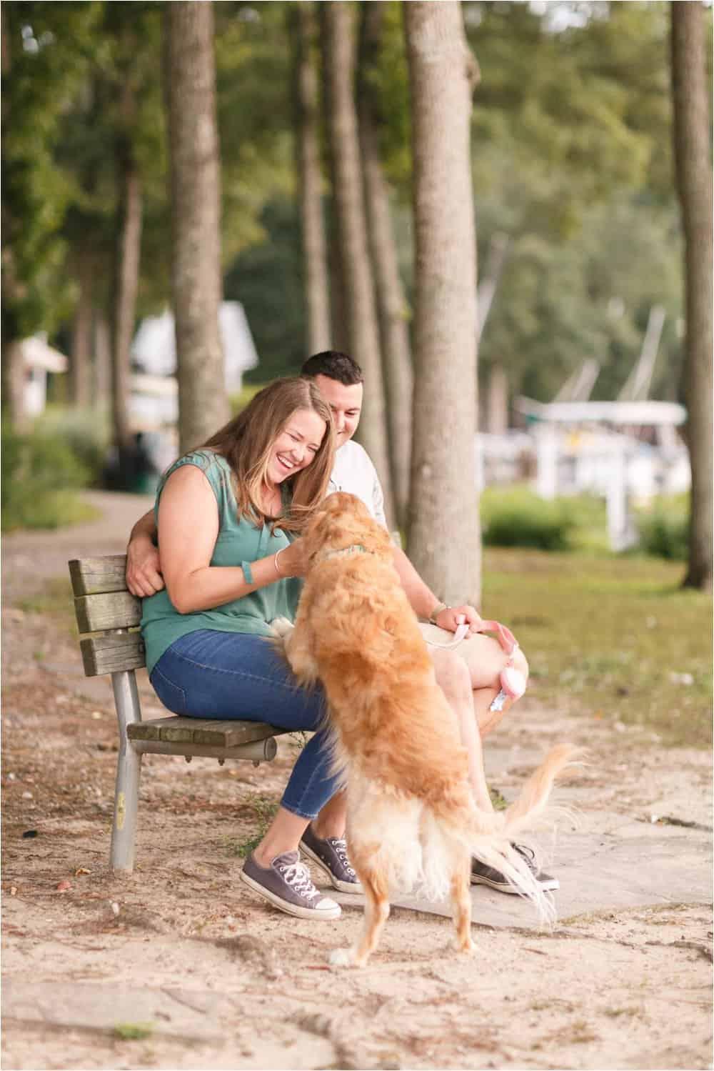 sunday park engagement photos