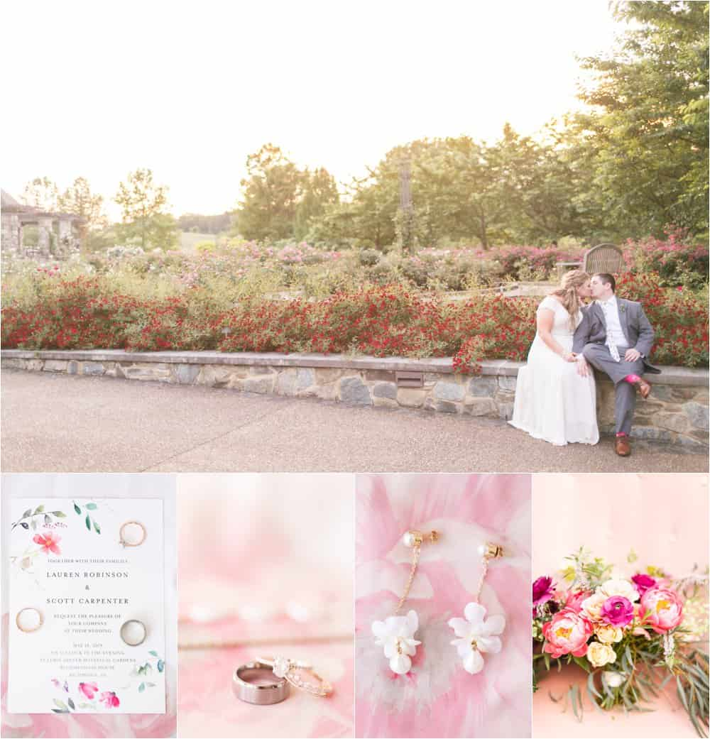 lewis ginter botanical gardens wedding photos