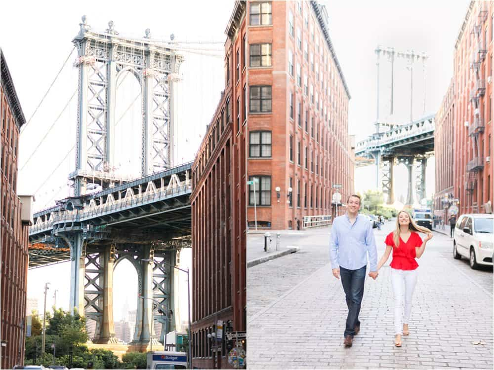 brooklyn dumbo new york city engagement photos