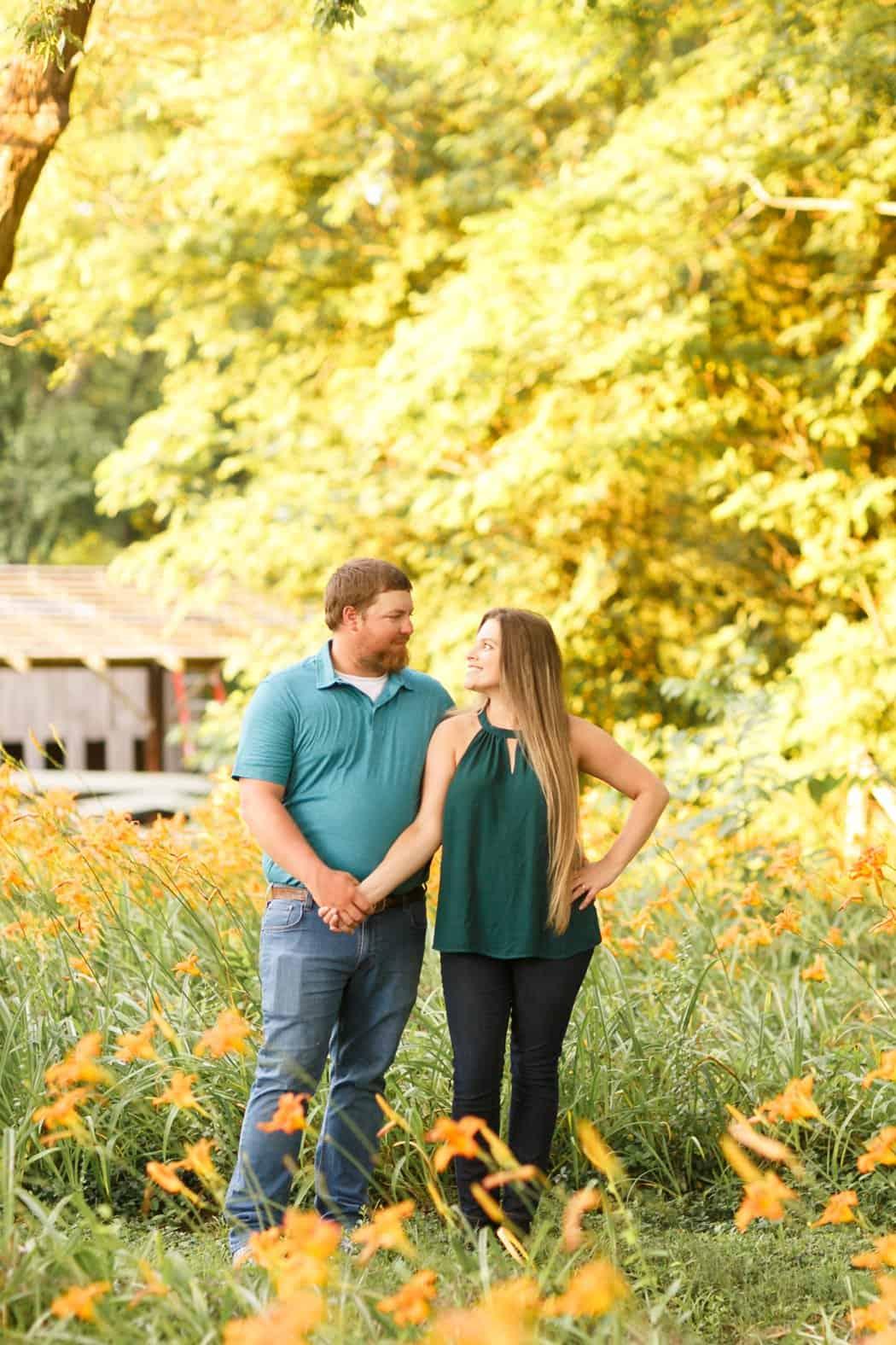 poplar hill wedding and events venue blackstone virginia engagement photos