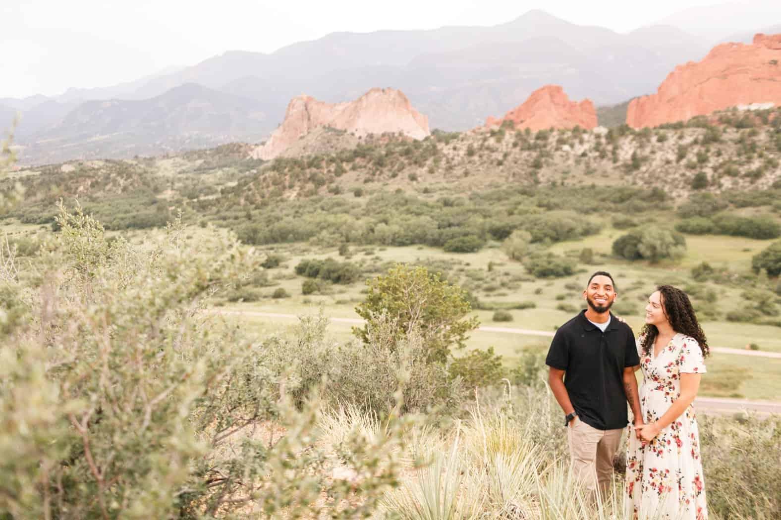 garden of the gods colorado springs colorado engagement photos