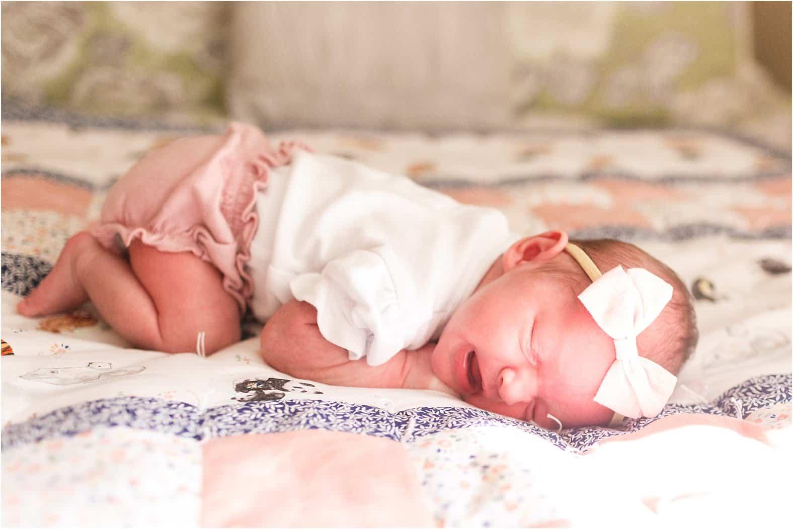 richmond virginia newborn girl portrait photos