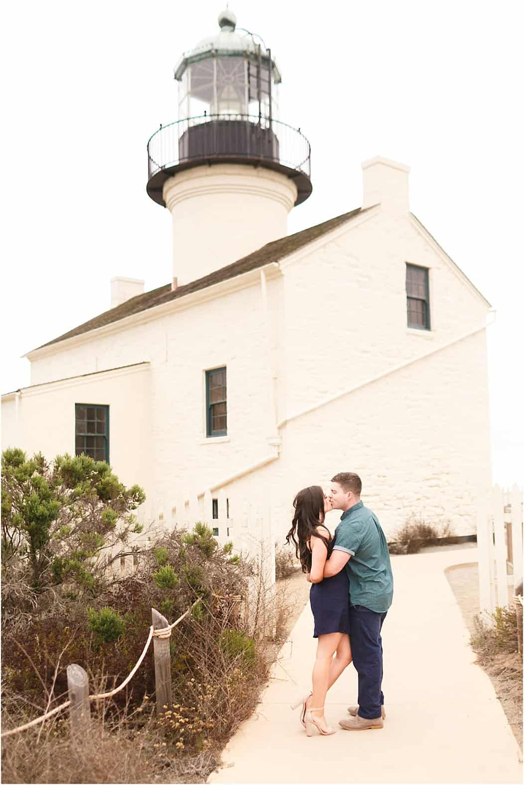 san diego cabrillo national monument engagement photos